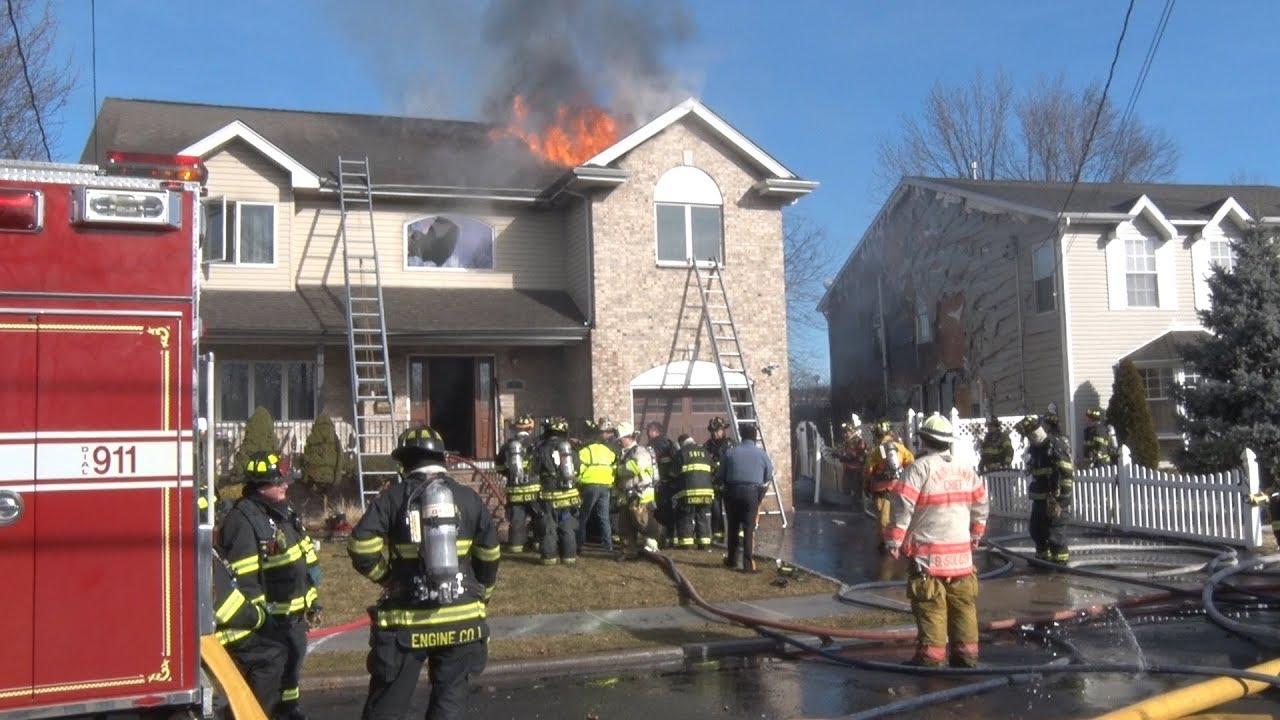 Saddle Brook Nj Fire Department General Alarm 2 17 18 Youtube