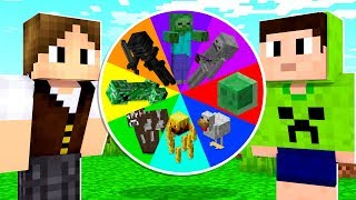 ROLETA MISTERIOSA dos MOBS NO MINECRAFT! ! ( ft JAZZGHOST )