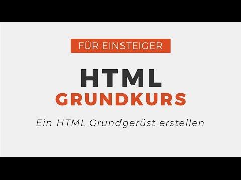 HTML Grundgerüst Erstellen