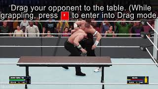 How to perform Table Finisher - WWE 2K18 (PC gameplay)