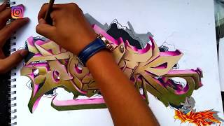 tutorial de graffiti 2D con evolución a 3D 2018 /2D graffiti tutorial with 3D evolution 2018