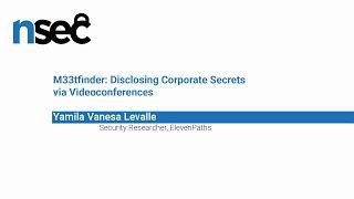 NorthSec 2019 – Yamila Vanesa Levalle – M33tfinder