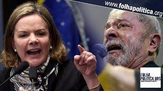 Gleisi se enrola e acaba entregando Lula durante discurso em pleno Senado: