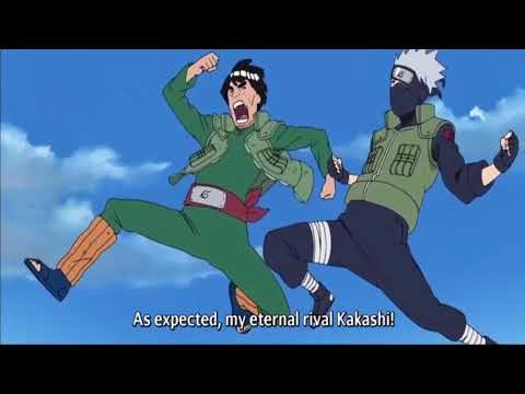 Guy Challenges Kakashi For A Final Eternal Rival Race