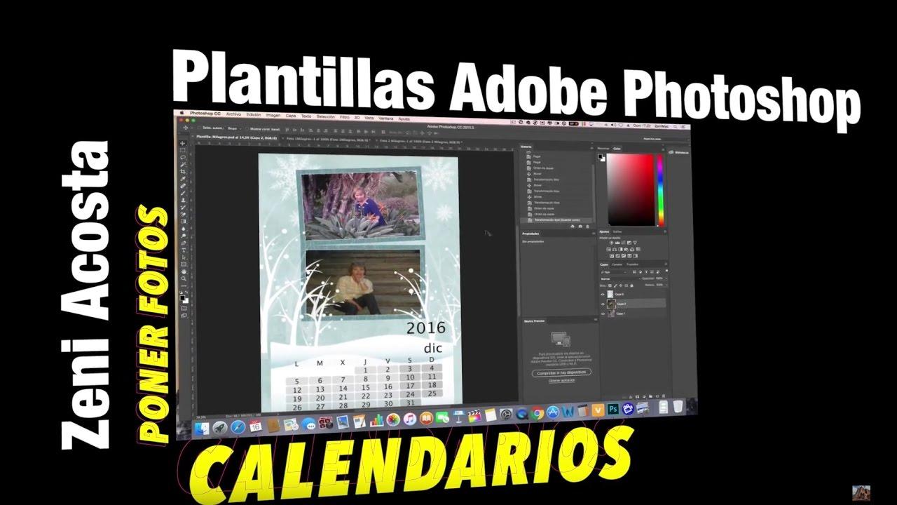 Moderno Plantilla De Photoshop De Calendario Imágenes - Ejemplo De ...