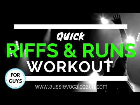 Riffs And Runs Vocal Workout - 10 How To Riff Exercises