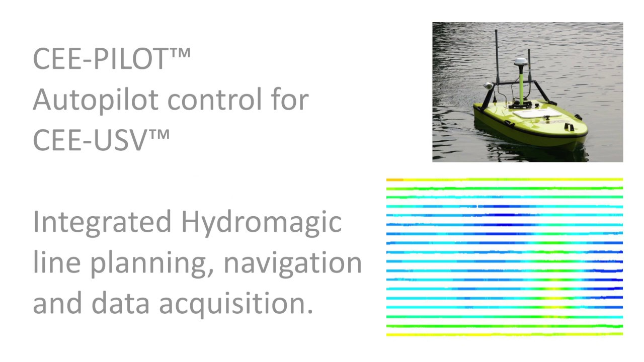 CEE-USV Remotely-Operated Hydrographic Survey Drone Boat