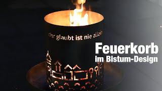 Feuerkorb im Bistum-Passau-Design