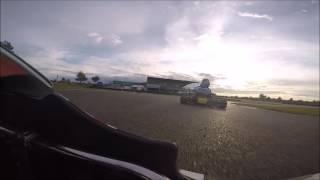 Iame X30 avec un crash / Circuit de Biscarrosse