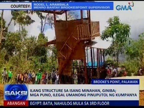 Saksi: Ilang structure sa isang minahan sa Palawan, giniba