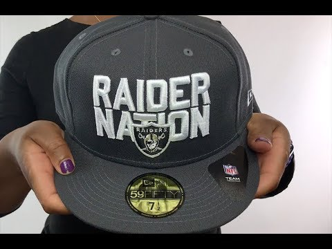 Raiders  RAIDER-NATION  Charcoal-White Fitted Hat by New Era - YouTube ea9858c2b
