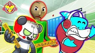BALDI IS ROBO COMBO ! Let's Play Baldi's Basics with Big Gil and Robo Combo Panda