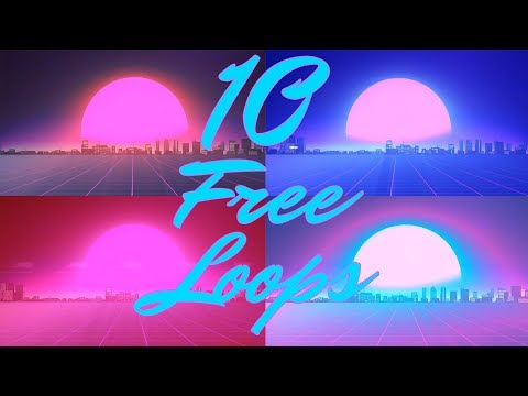 10 Free Outrun Grid Animation Loops