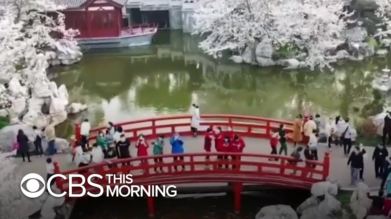 Wuhan residents celebrate, travel after coronavirus lockdown ends - CBS This Morning 3