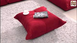 Bloom - Red Fabric Sectional Sofa Vgbnb240c From Vig Furniture
