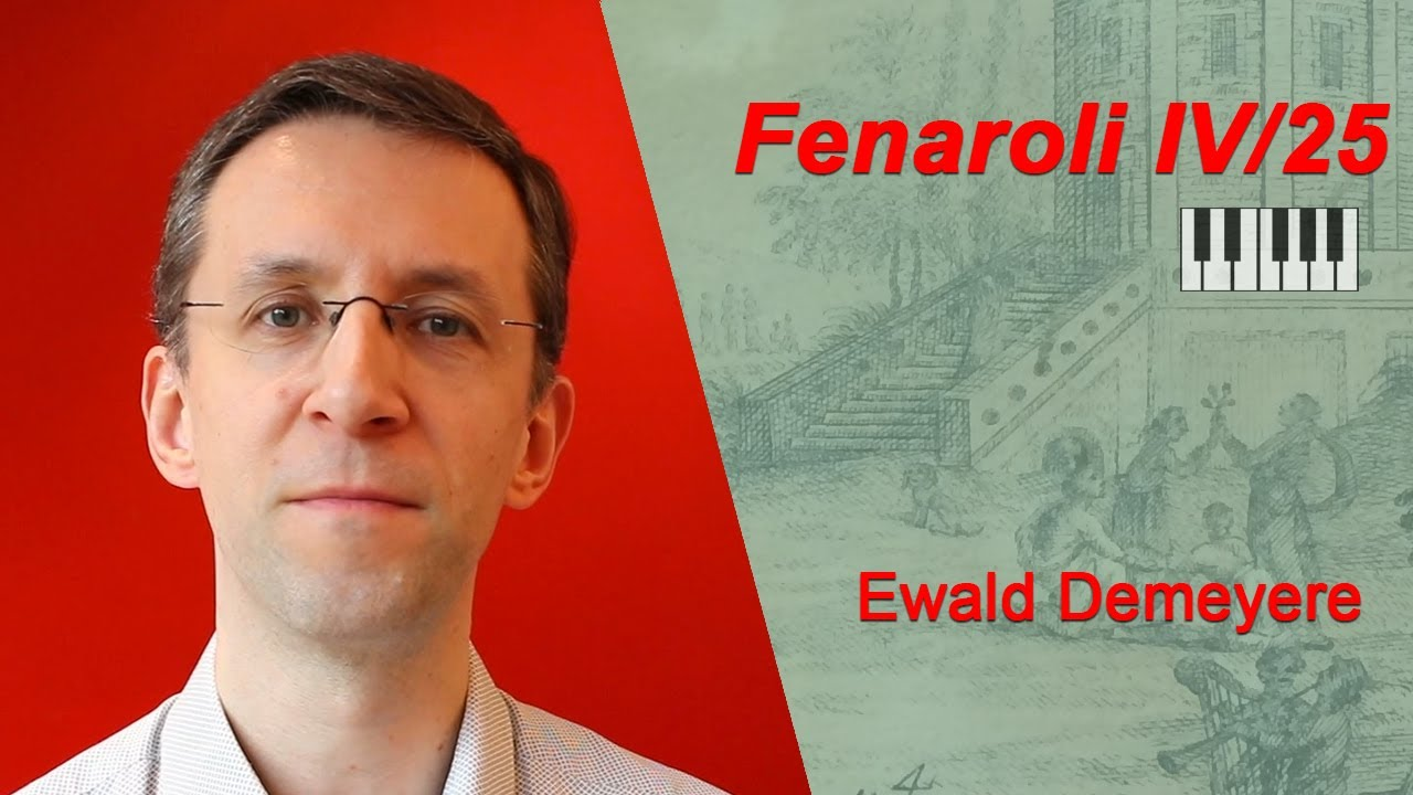 Classical Improvisation: Ewald Demeyere on Fenaroli's Partimento 25 in Dm (Book 4)