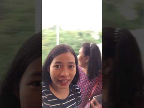 Experiencing cable car in Singapore
