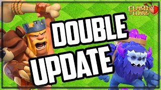 DOUBLE UPDATE! Clash of Clans Primal King Skin and MORE!
