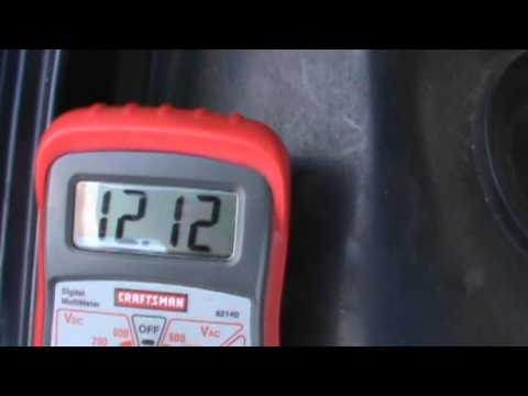 2003 honda civic ex how to know when an alternator is not charging video 1