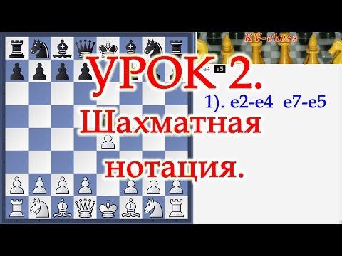 Шахматы Уроки Обучение для начинающих и новичков Шахматная нотация Видео Онлайн