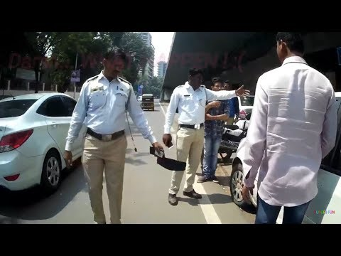 Super Cool Cops in Pune Chills With Biker