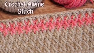 crochet बुनाई पैटर्न 🌹 Альпийский узор крючком 🌹 Crochet Alpine Stitch