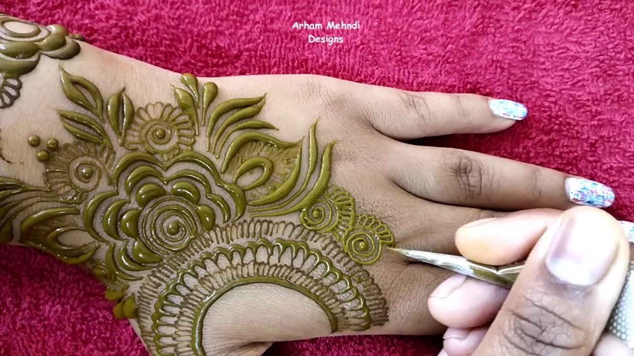 Latest Unique and Stylish Mehndi Design for Back Hand