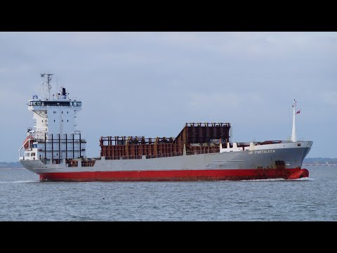 Feeder ship BF FORTALEZA heads for the Port of Felixstowe from tilbury 30/9/20