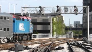 Amtrak, Metra & CN at 16th St Tower & Metra Rock Island Rush at La Salle St Station, 07.10.12