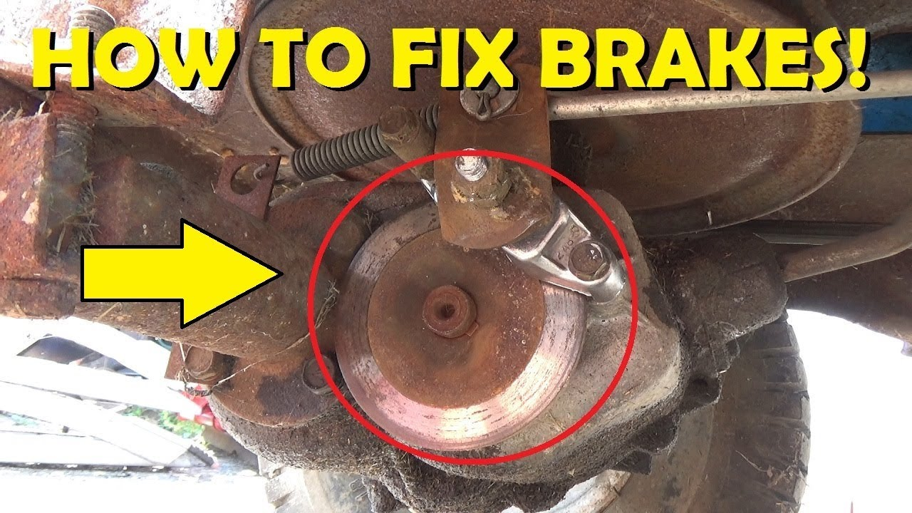 How To Fix Riding Lawnmower Brakes