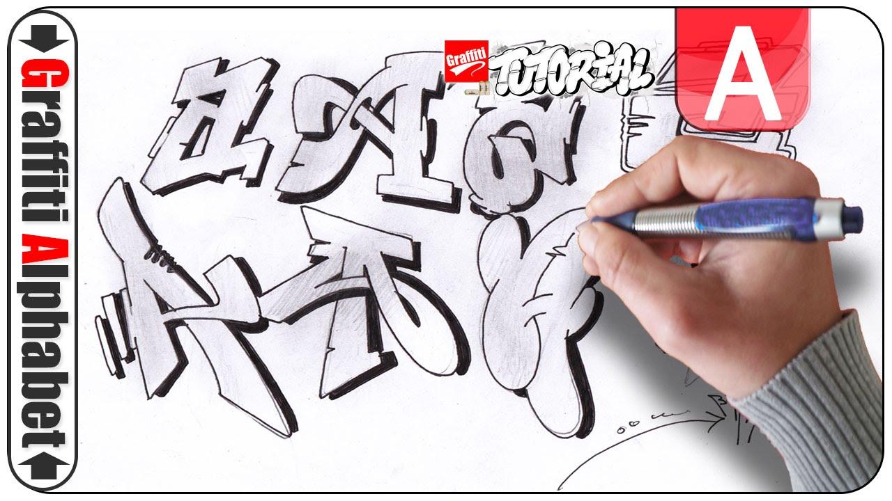Graffiti Alphabet - Buchstabe A - Letra A - Letter A - YouTube