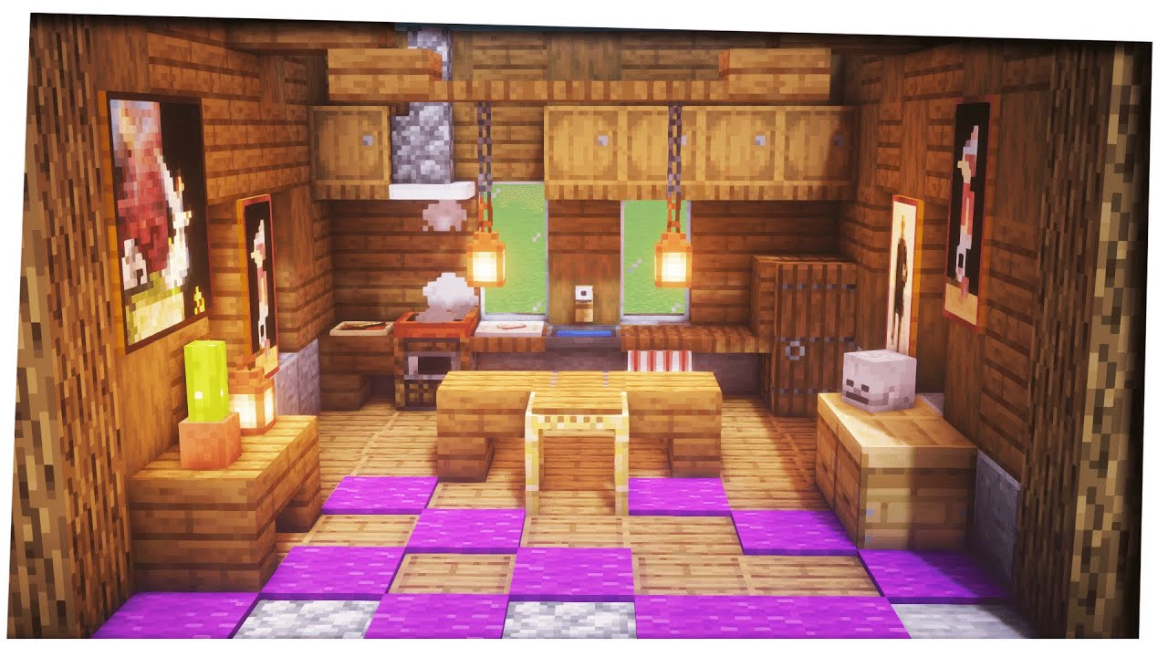 Minecraft 9.96   How to Build a Kitchen  Interior design tips and  tricks  Kitchen Designs & Ideas