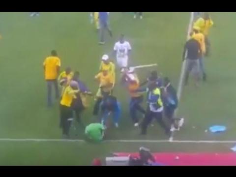 Violent Scenes as Soccer Fans Invade Pitch in Pretoria
