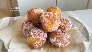 材料2つで絶品!簡単すぐできる!モッチモチのドーナツ作り方 donut 도넛