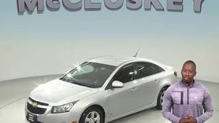 A98521GT Used 2011 Chevrolet Cruze 1LT FWD 4D Sedan Silver Test Drive, Review, For Sale -