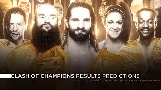 WWE Clash of Champions 2019 - Results Predictions