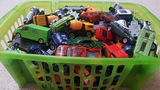 Box Full of Hot Wheels Cars and More Cars for Kids Play & Review