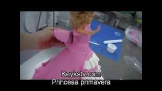 Cooking | Cómo hacer una tarta de fondant o masa elástica de princesa en 3d