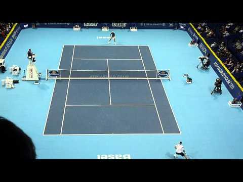Juan Martin Del Potro point at Basel Tennis 2013