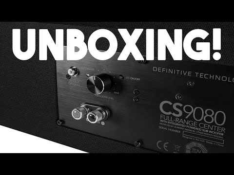Definitive Technology CS9080 Unboxing!