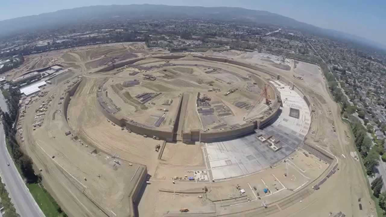 apple campus 2 construction video august 2014 shot with gopro youtube. Black Bedroom Furniture Sets. Home Design Ideas