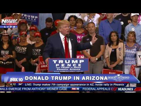 FNN: FULL SPEECH - Donald Trump Rally in Phoenix on October 29, 2016 -  7th Visit to Arizona - FNN
