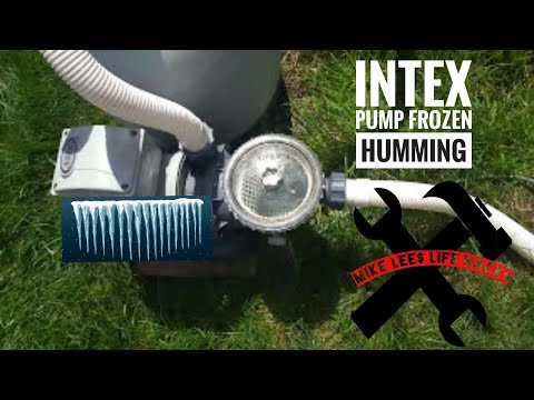 Intex pool pump frozen, won't spin!  Easy fix! Mike Lee'$ Life Hack$