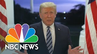 Trump Posts Video From White House After Returning From Walter Reed | NBC News NOW