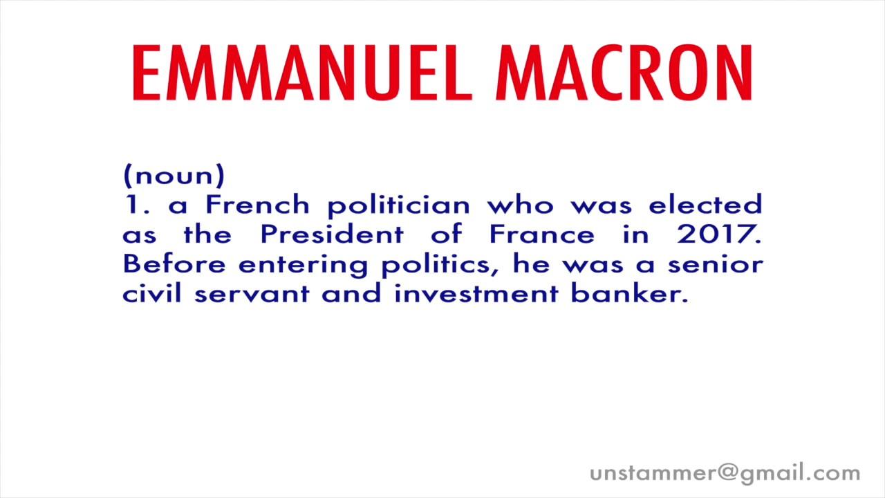 How To Pronounce Emmanuel Macron Youtube