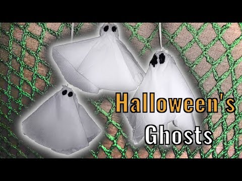 DIY cute paper ghosts for halloween!