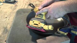 How to smooth the rough cooking surface of a modern Lodge cast iron skillet.