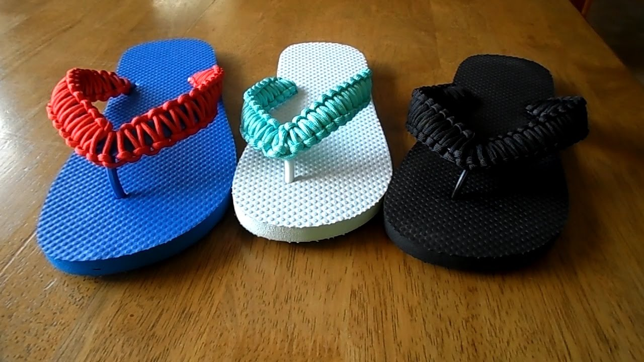 a197799848baf DIY Paracord Flip Flops Tutorial - Birthday Gifts For Men - YouTube
