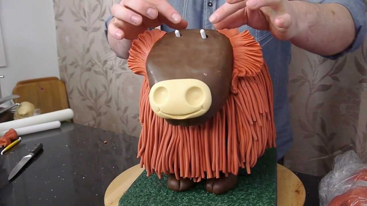 Kuchen Recipe Highland Cow Cake Preview - Cake Decorating With Paul