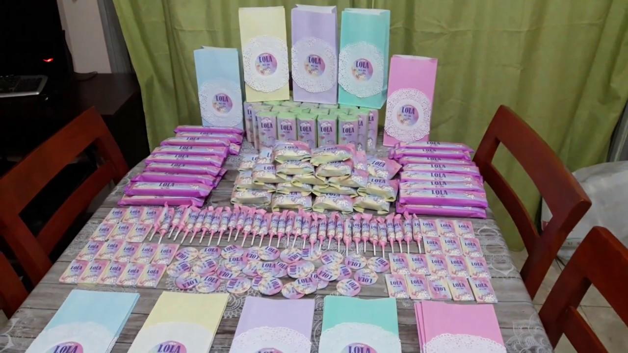 Candy bar de unicornio Golosinas personalizadas by miaflor manualidades YouTube